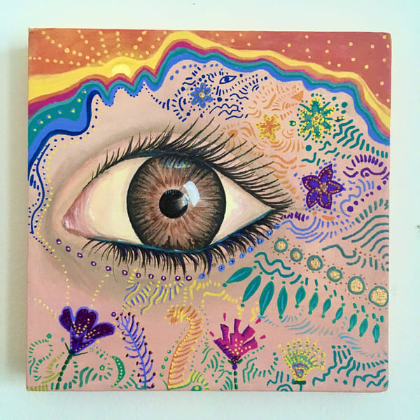 Rainbow Eye (Original) Art | Angelica Hoyos Studio
