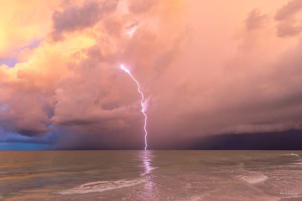 Pink Lightning at Siesta Key