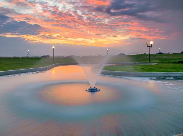 Ocean Park Summer Fountain Clouds Art | Michael Blanchard Inspirational Photography - Crossroads Gallery