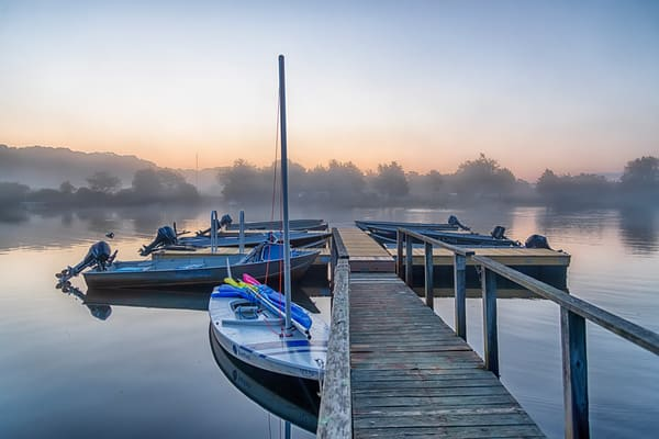 Great Tisbury Pond Late Summer Fog Art | Michael Blanchard Inspirational Photography - Crossroads Gallery
