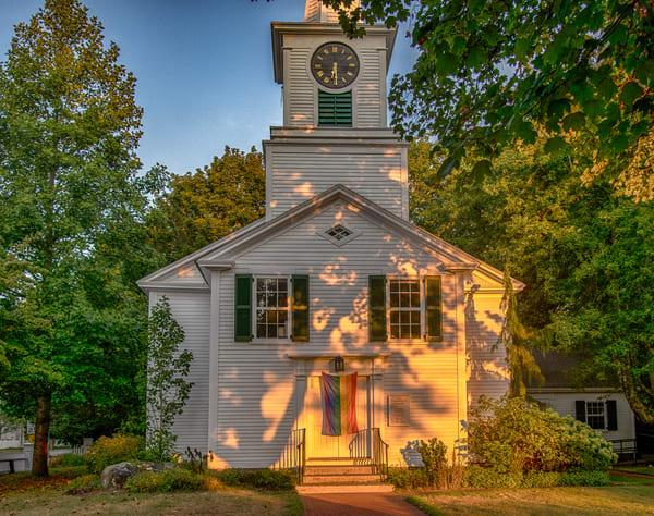 Church Golden Sunrise Art   Michael Blanchard Inspirational Photography - Crossroads Gallery
