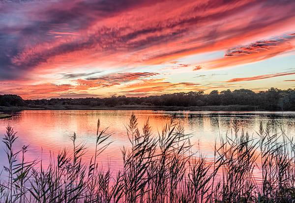Farm Pond Summer Sunset Clouds Art | Michael Blanchard Inspirational Photography - Crossroads Gallery