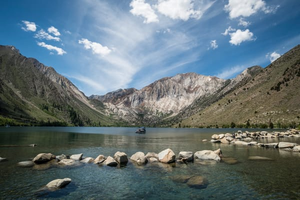 """Beautiful Day on a Mountain Lake"" print 