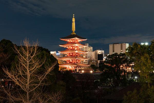Sensoji Temple At Night Photography Art | Alex Nueschaefer Photography