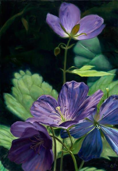 Purple Wildfower Art | Roxana Sinex Art