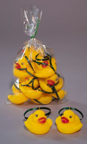 10 small rubber duck holiday ornaments