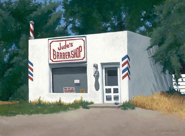 Barber Shop | Colorado | Original Oil Painting & Fine Art Prints
