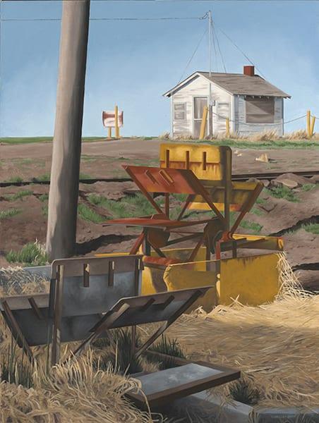 Colorado Landscape with Sun-Lit Sluice | Fine Art Prints & Original Paintings