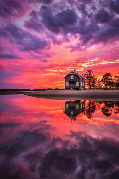 Flaming Cottage Photography Art | Teaga Photo