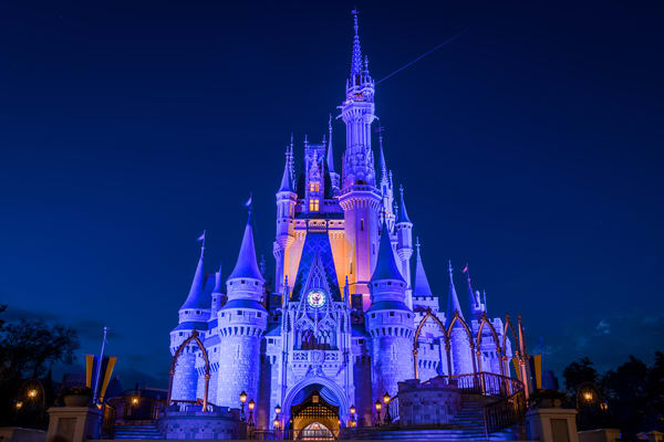 Cinderellas Castle At Dusk 2 Photography Art | William Drew Photography