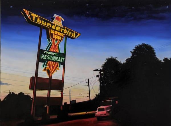 Matthew Peterson - original artwork - neon signs - realism - landmarks - The Thunderbird