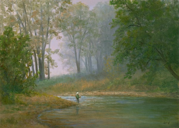 *Fly Fishing On A Misty  Morning Art | Tarryl Fine Art