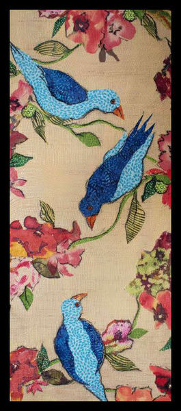 Birds and Flowers, Sharon Tesser, Textile Mosaic