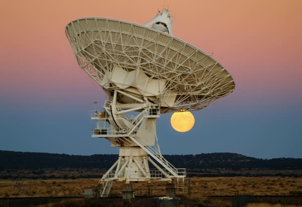 Moonrise Over The VLA #2