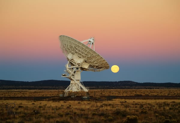 Moonrise Over The VLA #1