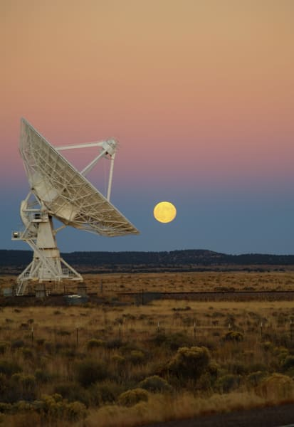 Moonrise Over The VLA #3