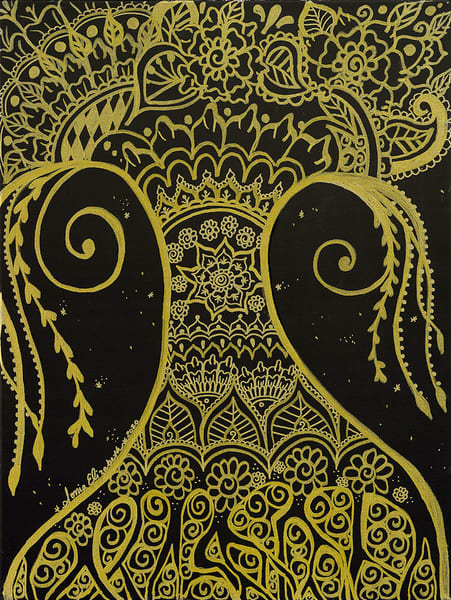 """Golden Goddess Growing"" fine art print by Sonia Elizabeth Menning."