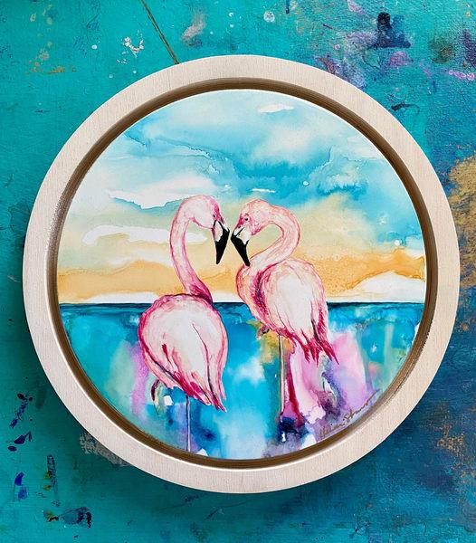 Flamingo Pair Art | Heidi Stavinga Studio