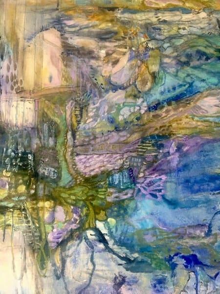 Blue Aerial  Art   Annie Lockhart