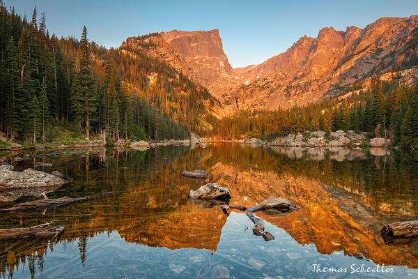Fine Art Images of RMNP | Dream Lake at Sunrise from Dream lake by Thom Schoeller