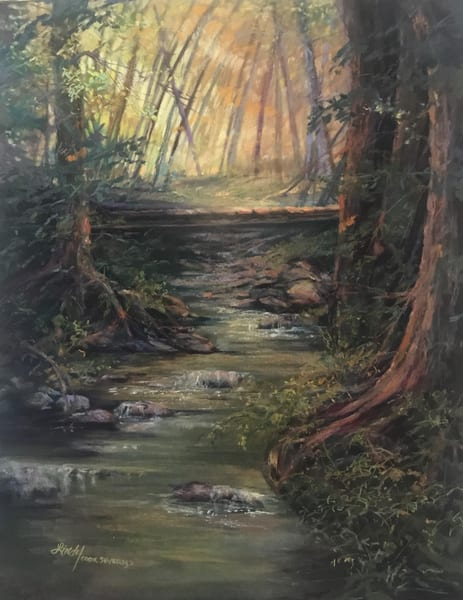 Taos Creek, Original Pastel Art | Lindy Cook Severns Art