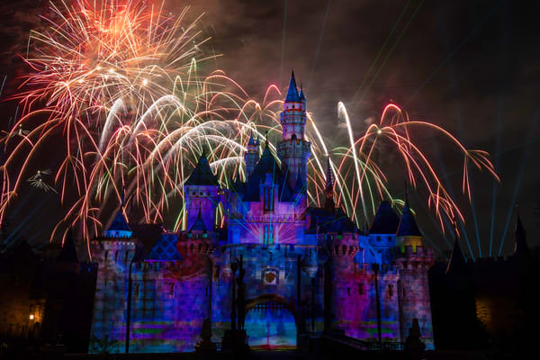 Mickey's Mix Magic With Fireworks Finale Photography Art | William Drew Photography
