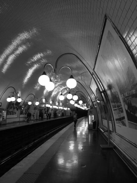 Framed And Matted Print Cite', Metro, Paris #1 | Photoissimo - Fine Art Photography