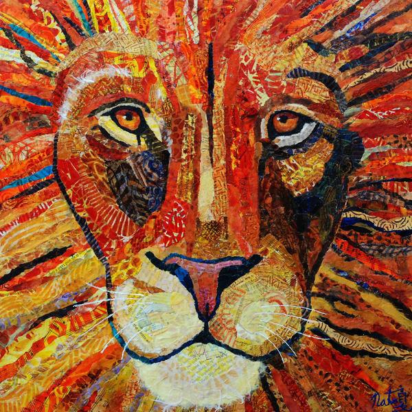 Leon The Lion Art   Poppyfish Studio