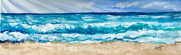 Beach in watercolors by Aprajita Lal