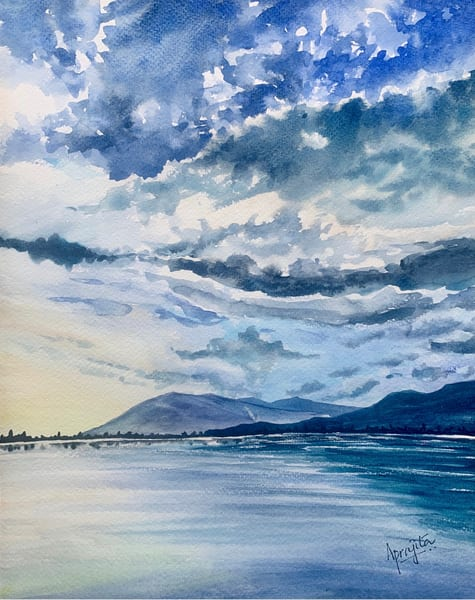 """The Calm"" in watercolors by Aprajita Lal"