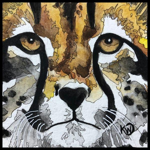Water Mini: Cheetah Face Original | Water+Ink Studios