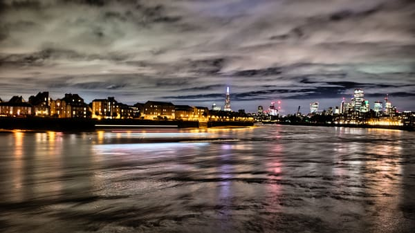 Churning Tide On The Thames Art | Martin Geddes Photography