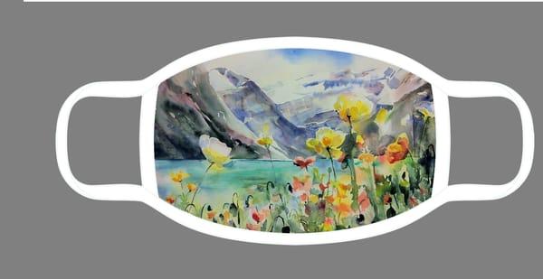 Horunnumnay, Lake Louise Face Mask | Karen Bishop Artist