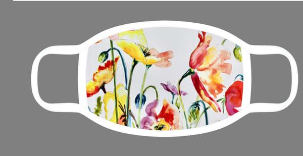 Poppies Face Mask | Karen Bishop Artist