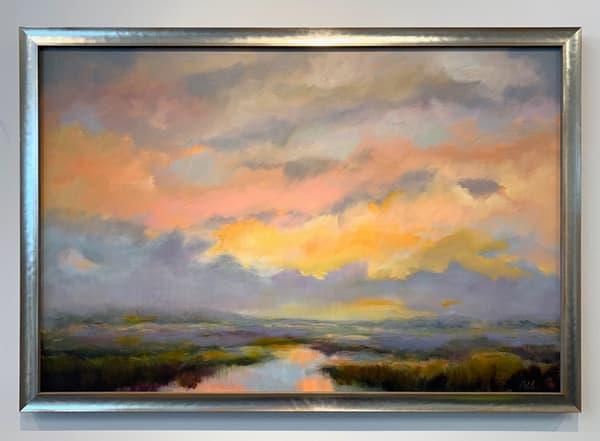 """Pink Light Over The Cove"" Art | Odile Fine Art"