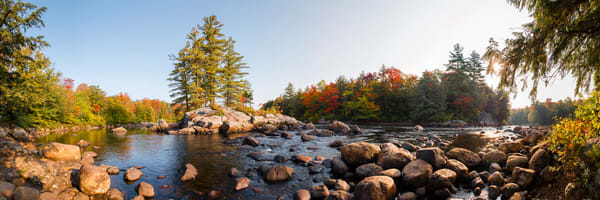 Moose River Fall Panoramic Photography Art | Kurt Gardner Photogarphy Gallery