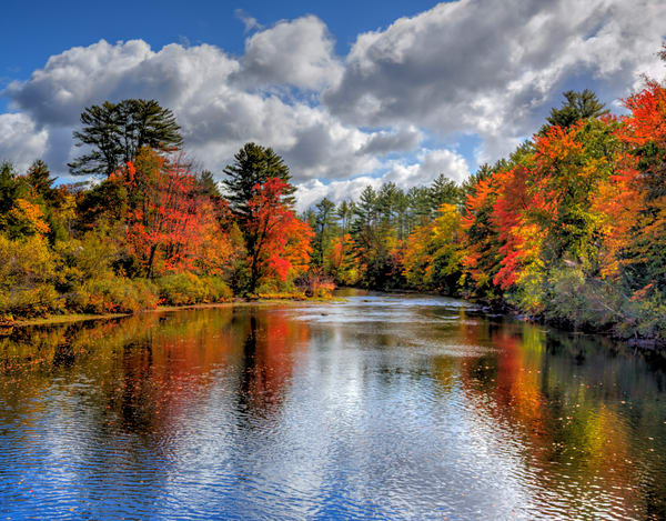 Autumn on the Ossipee River