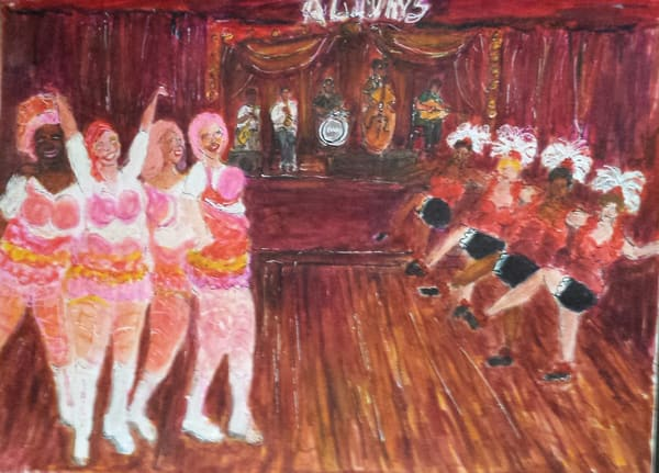 Chorus Girls Meet The Pussyfooters Art | New Orleans Art Center