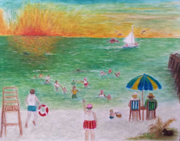 Family Day At The Beach, Vacation From Hell Art | New Orleans Art Center