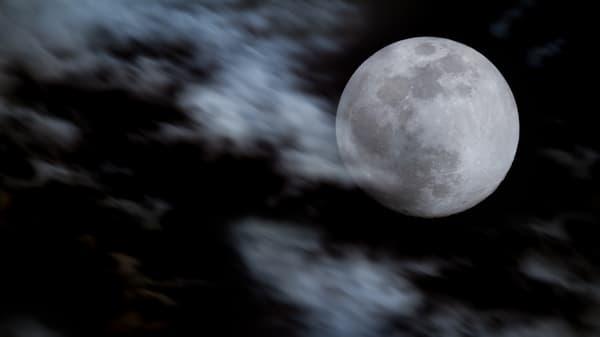 Moon And Clouds Photography Art | Matt Cuda Nature Photography