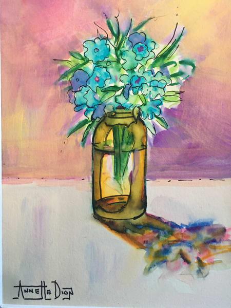 Bouquet 15 Art | vibrant art studio, Art by Annette Dion McGowan