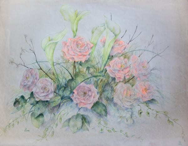 Wedding Bouquet, Colored Pencil On Paper, 1992 Art | Roost Studios, Inc.