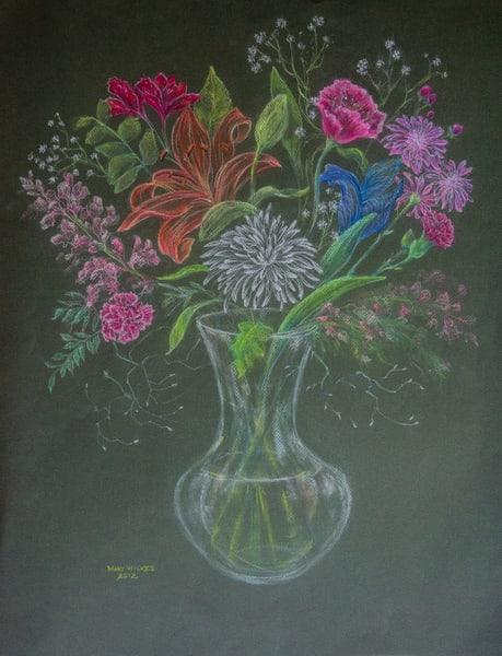 Floral, Pastel On Paper, 2012 Art | Roost Studios, Inc.