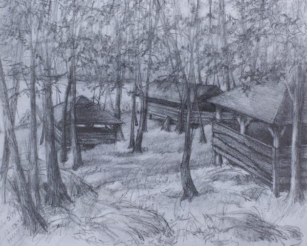 Three Abandoned Cabins At Harriman, 1992 Art | Roost Studios, Inc.