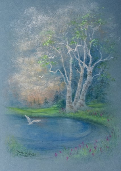 Going Home, Pastel, January 2020 Art | Roost Studios, Inc.