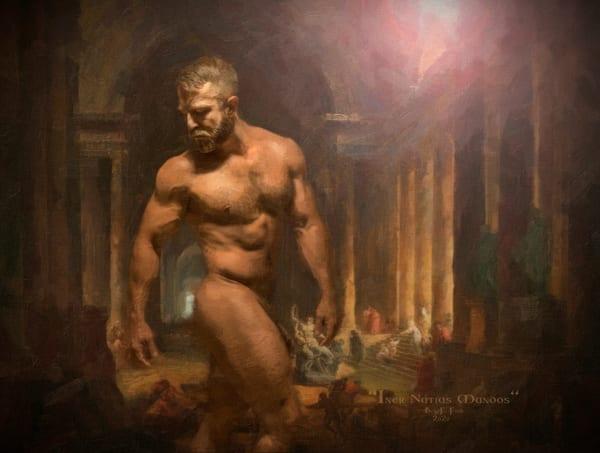 Inter Nuntius Mundos, Encaustic Painting, Ben Fink,