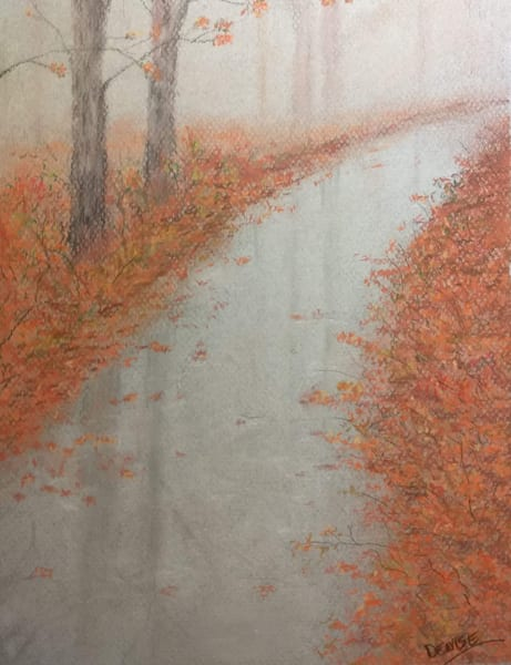 Misty Autumn Walk Art   Cincy Artwork