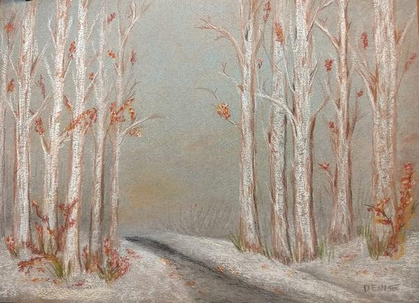 November Snow Path Art   Cincy Artwork