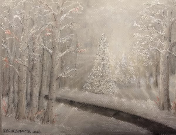 Winter Sunshine Art   Cincy Artwork