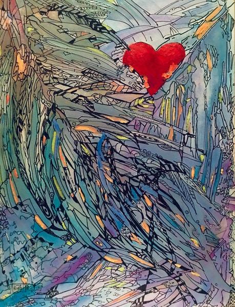 In The Wings Of An Angel Art | vibrant art studio, Art by Annette Dion McGowan